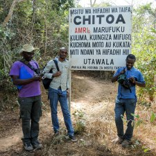 Arriving at Chitoa forest reserve