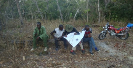 Waiting for motorcycles in Ngarama